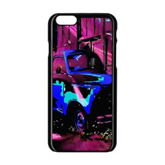 Abstract Artwork Of A Old Truck Apple iPhone 6/6S Black Enamel Case
