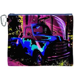 Abstract Artwork Of A Old Truck Canvas Cosmetic Bag (xxxl)