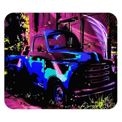 Abstract Artwork Of A Old Truck Double Sided Flano Blanket (Small)