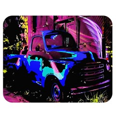 Abstract Artwork Of A Old Truck Double Sided Flano Blanket (medium)