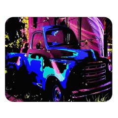 Abstract Artwork Of A Old Truck Double Sided Flano Blanket (Large)