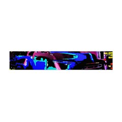 Abstract Artwork Of A Old Truck Flano Scarf (Mini)