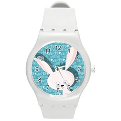 Easter bunny  Round Plastic Sport Watch (M)