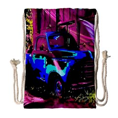 Abstract Artwork Of A Old Truck Drawstring Bag (Large)