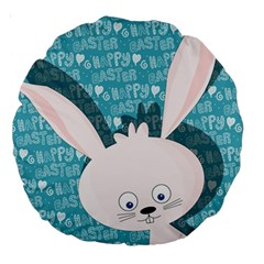 Easter bunny  Large 18  Premium Round Cushions