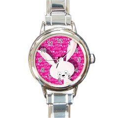 Easter bunny  Round Italian Charm Watch