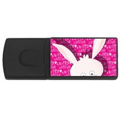 Easter bunny  USB Flash Drive Rectangular (4 GB)