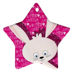 Easter bunny  Star Ornament (Two Sides)
