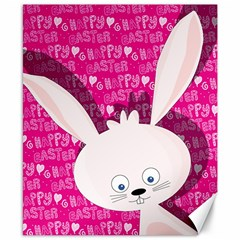Easter bunny  Canvas 8  x 10