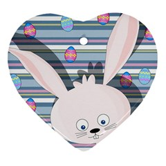 Easter bunny  Heart Ornament (Two Sides)