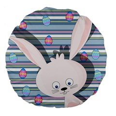 Easter bunny  Large 18  Premium Flano Round Cushions