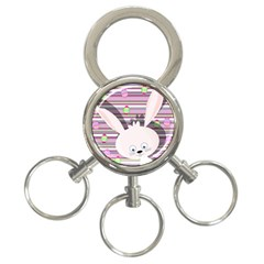 Easter bunny  3-Ring Key Chains
