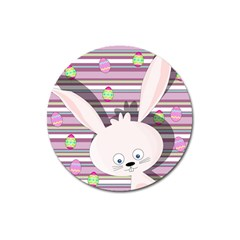 Easter bunny  Magnet 3  (Round)