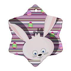 Easter bunny  Snowflake Ornament (Two Sides)