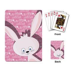 Easter bunny  Playing Card