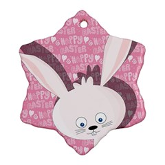 Easter bunny  Ornament (Snowflake)