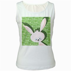 Easter bunny  Women s White Tank Top