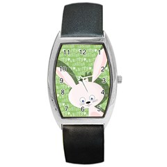 Easter bunny  Barrel Style Metal Watch