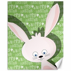 Easter bunny  Canvas 11  x 14