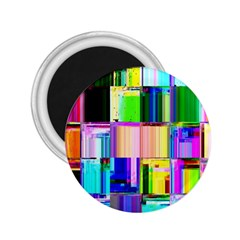 Glitch Art Abstract 2 25  Magnets