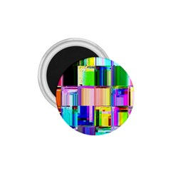 Glitch Art Abstract 1.75  Magnets