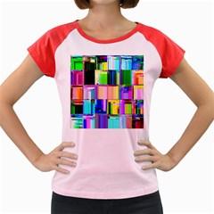 Glitch Art Abstract Women s Cap Sleeve T-Shirt