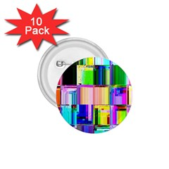 Glitch Art Abstract 1.75  Buttons (10 pack)