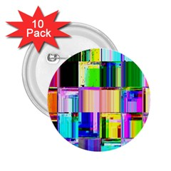Glitch Art Abstract 2.25  Buttons (10 pack)