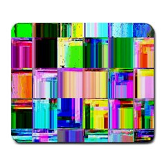 Glitch Art Abstract Large Mousepads