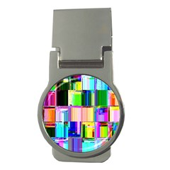 Glitch Art Abstract Money Clips (round)