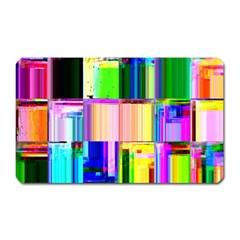 Glitch Art Abstract Magnet (Rectangular)