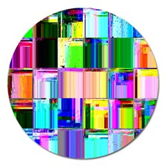Glitch Art Abstract Magnet 5  (Round)
