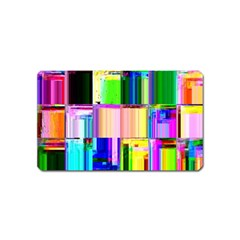 Glitch Art Abstract Magnet (Name Card)