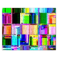 Glitch Art Abstract Rectangular Jigsaw Puzzl