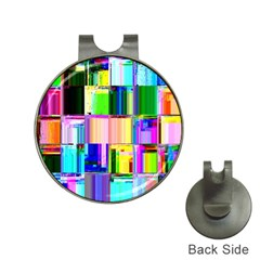 Glitch Art Abstract Hat Clips With Golf Markers