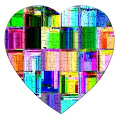 Glitch Art Abstract Jigsaw Puzzle (heart)