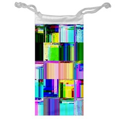 Glitch Art Abstract Jewelry Bag