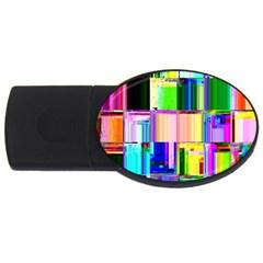Glitch Art Abstract Usb Flash Drive Oval (4 Gb)
