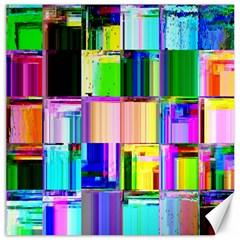 Glitch Art Abstract Canvas 16  x 16