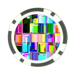 Glitch Art Abstract Poker Chip Card Guard