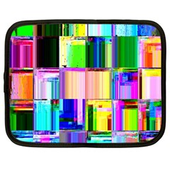 Glitch Art Abstract Netbook Case (Large)