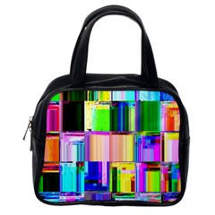 Glitch Art Abstract Classic Handbags (One Side)