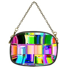 Glitch Art Abstract Chain Purses (Two Sides)