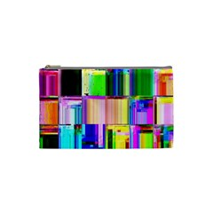 Glitch Art Abstract Cosmetic Bag (small)