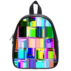 Glitch Art Abstract School Bags (Small)