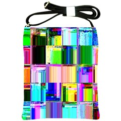 Glitch Art Abstract Shoulder Sling Bags
