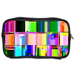 Glitch Art Abstract Toiletries Bags 2-Side