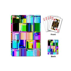 Glitch Art Abstract Playing Cards (Mini)