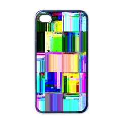 Glitch Art Abstract Apple Iphone 4 Case (black)