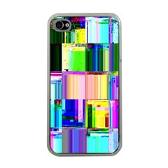 Glitch Art Abstract Apple Iphone 4 Case (clear)